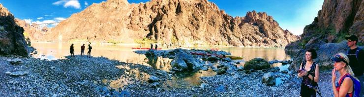 Gold strike hot springs hike Colorado River